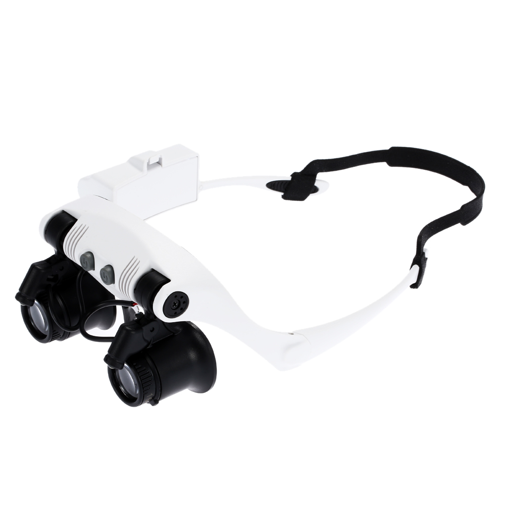 Óculos com Lupa de Aumento para Relojoeiro com Iluminação de 2 LEDs 9892GJ-3A