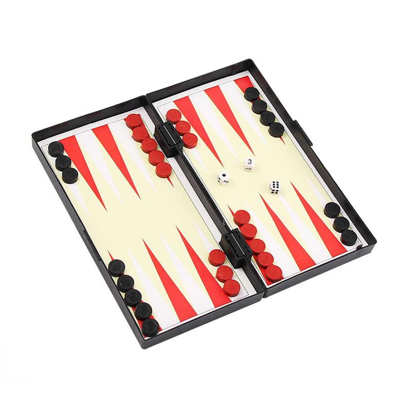 Jogo 3x1 Tabuleiro de Xadrez, Damas e Gamão Imantado XM-55
