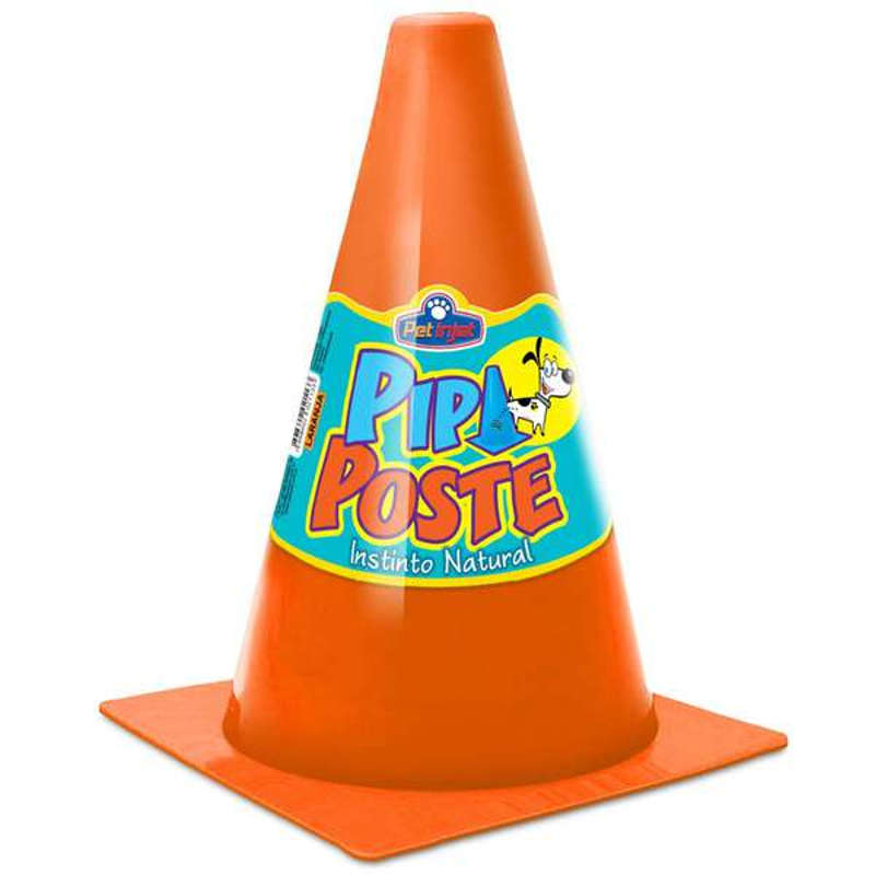 Cone para Cachorro Pipi Poste Laranja Pet Injet 10174