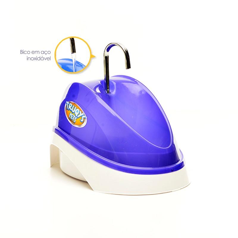 Fonte Bebedouro para Gatos Água Corrente Roxo 110V Truqys Pet 1800RX