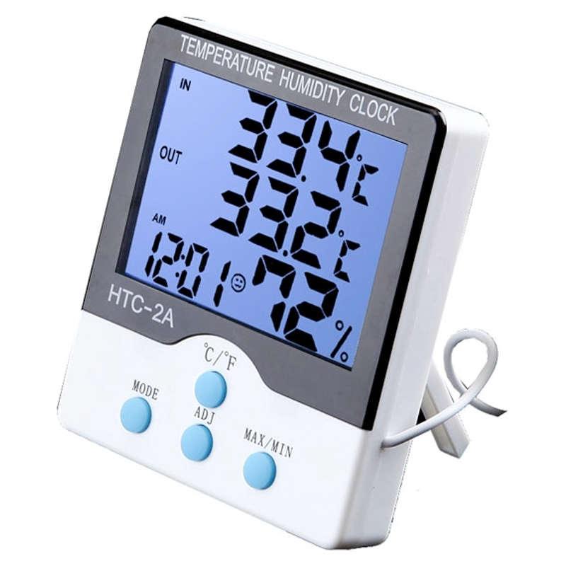 Termômetro de Máxima e Mínima Interno e Externo com Higrômetro HTC-2A