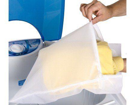 Kit 20 Sacos Para Lavar Roupas Delicadas 30x25cm P Bag Limp