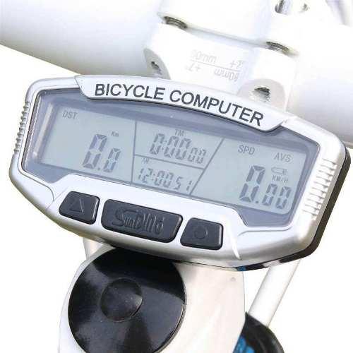Ciclocomputador Bike 28 Funções + Lanterna Traseireira Laser BL188