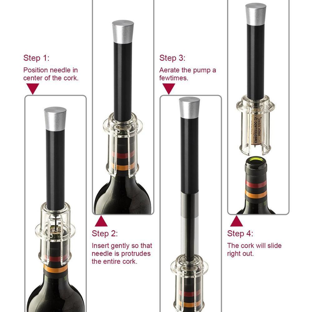 Abridor de Vinho Garrafa Bomba de Pressão de Ar XM-51867