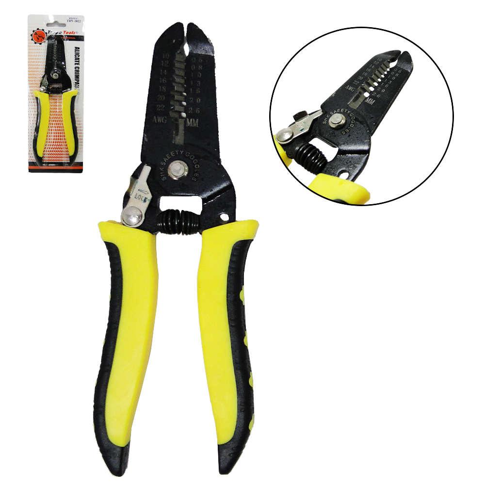 Alicate Decapador para Descascar Fios 0,6 a 2,6mm (22 a 10 AWG) com Mola TRY-1022