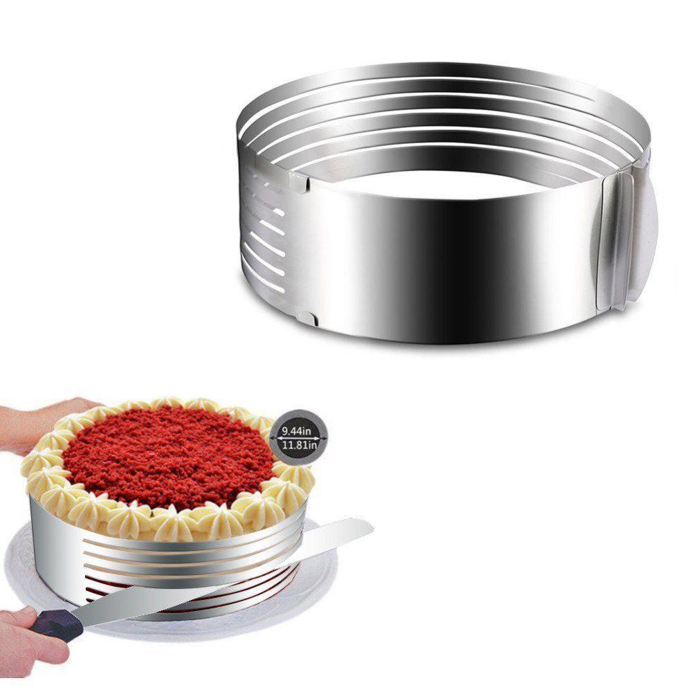 Aro Fatiador para Bolo Inox Ajustável 15 a 20cm AG9037