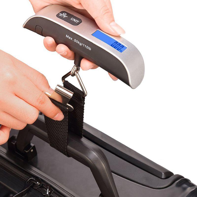 Balança Digital Portátil para Mala de Viagem 50Kg JY29