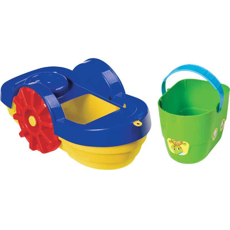 Barco de Brinquedo com Baldinho para Praia Merco Toys 600