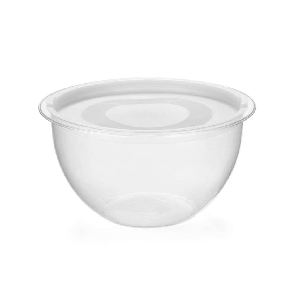 Bowl em Acrílico Transparente 4L Redondo com Tampa Injeplastec 0218