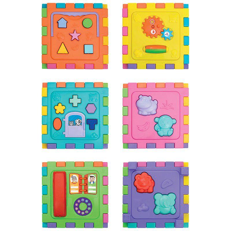 Brinquedo Cubo de Atividades Didático Grande Mercotoys 416