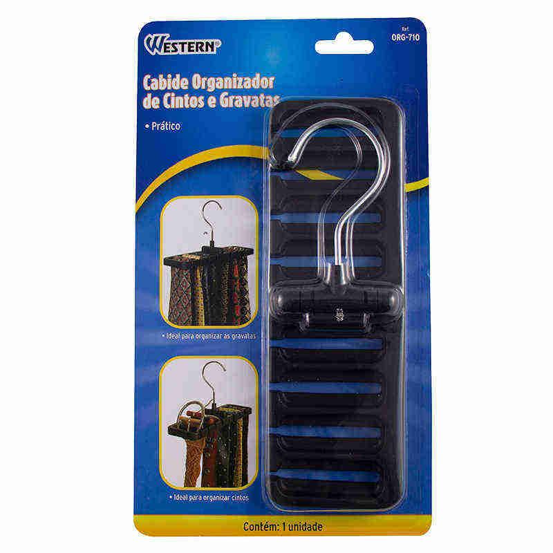Cabide Organizador para Cintos e Gravatas Western ORG-710