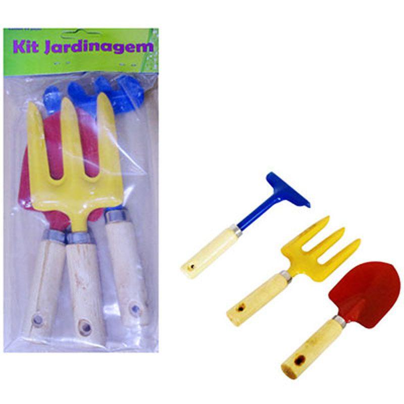 Conjunto para Jardinagem Infantil Pá Rastelo e Garfo BCG6012