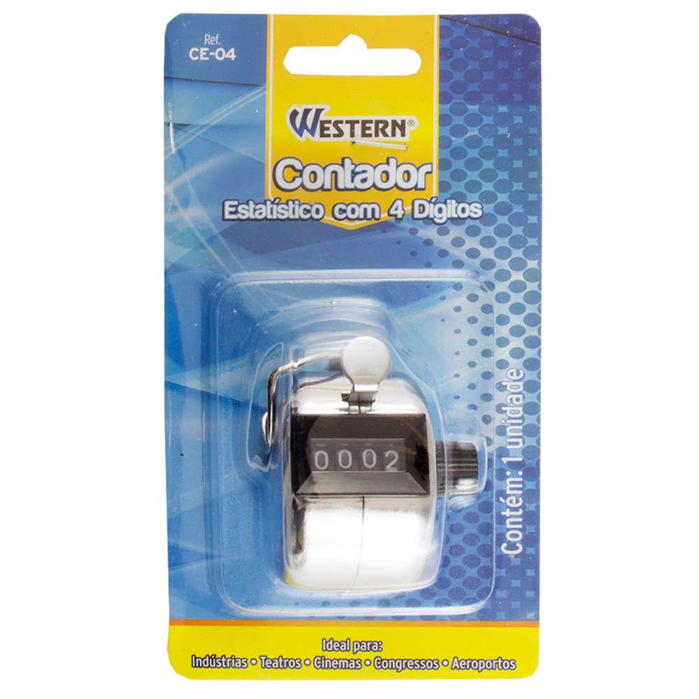 Contador Estatístico Manual 4 Dígitos Analógico Western CE-04