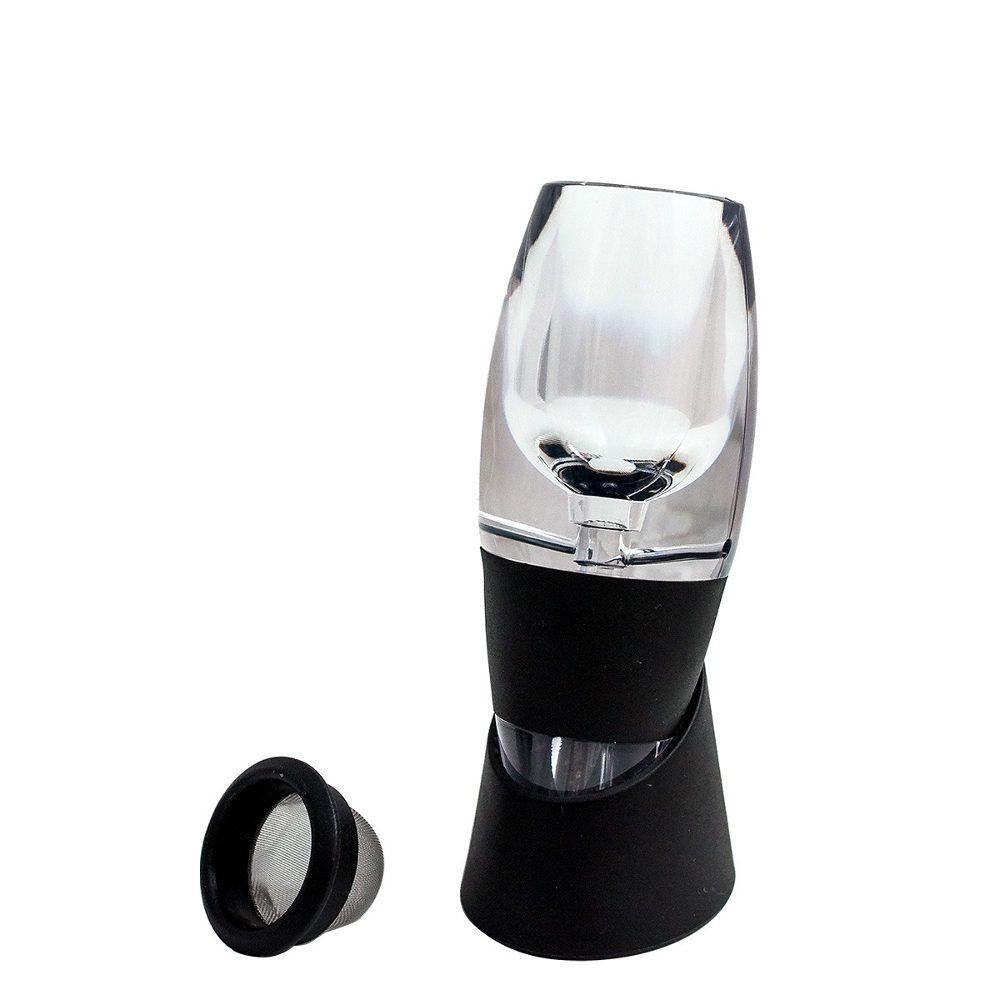 Abridor de Garrafa de Vinho Saca Rolhas Elétrico + Magic Decanter Aerador Oksn KB1-60N
