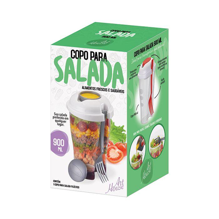 Copo para Salada e Frutas com Porta Tempero 900ml Art House ZF3444