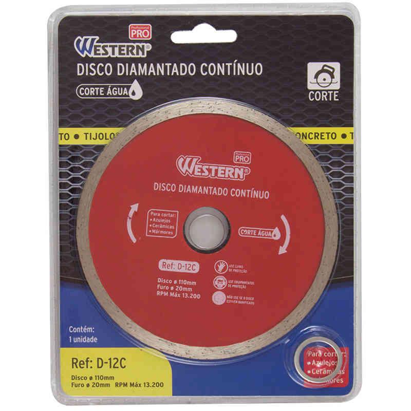 Disco Diamantado Contínuo 110mm Western D-12C