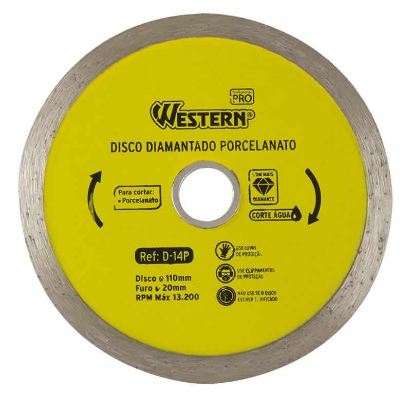 Disco Diamantado para Porcelanato 110mm Western D-14P