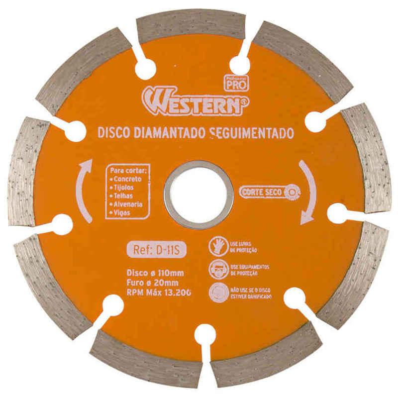 Disco Diamantado Seguimentado 110mm Western D-11S