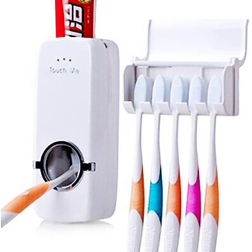 Dispenser para Pasta de Dentes com Porta Escovas TM-2000