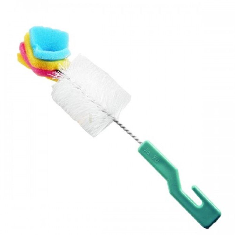 Escova para Lavar Mamadeira Esponja e Cerdas Y919