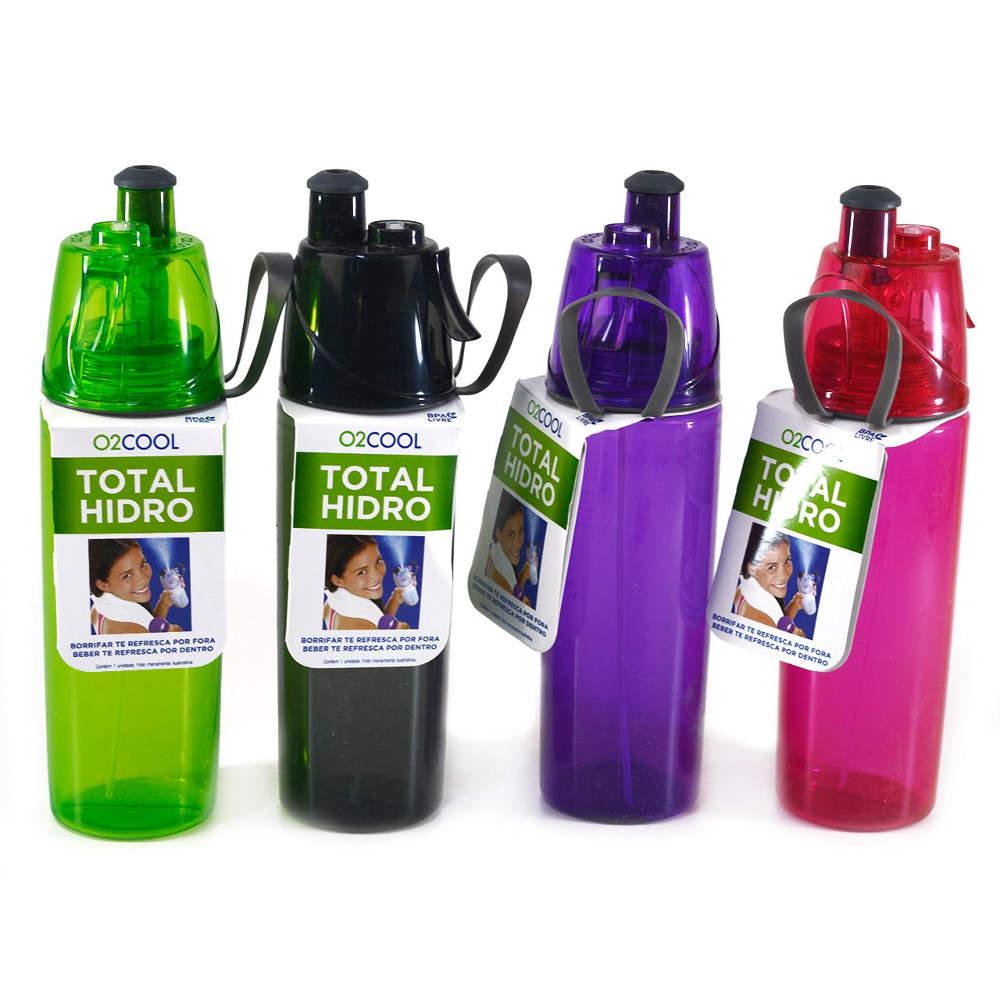 Garrafa Squeeze Total Hidro O2Cool com Borrifador 3197