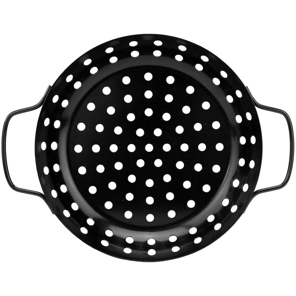 Grelha para Churrasqueira Perfurada Antiaderente Redonda 24cm Clink CK4878