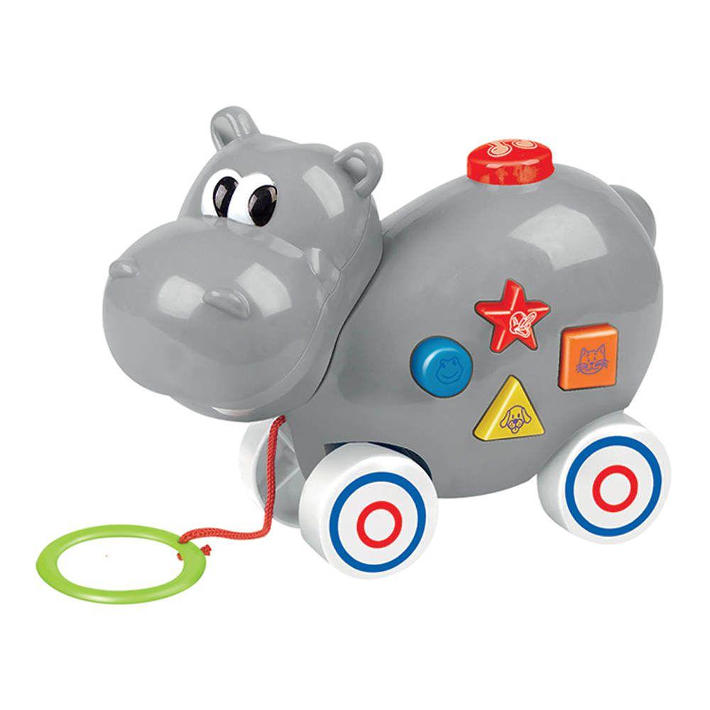 Hipopótamo Musical Educativo com Som e Luz Art Brink 217B
