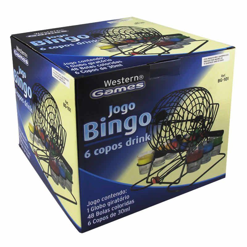 Jogo de Bingo com Copos Shot 48 Bolas Coloridas Western BG-101