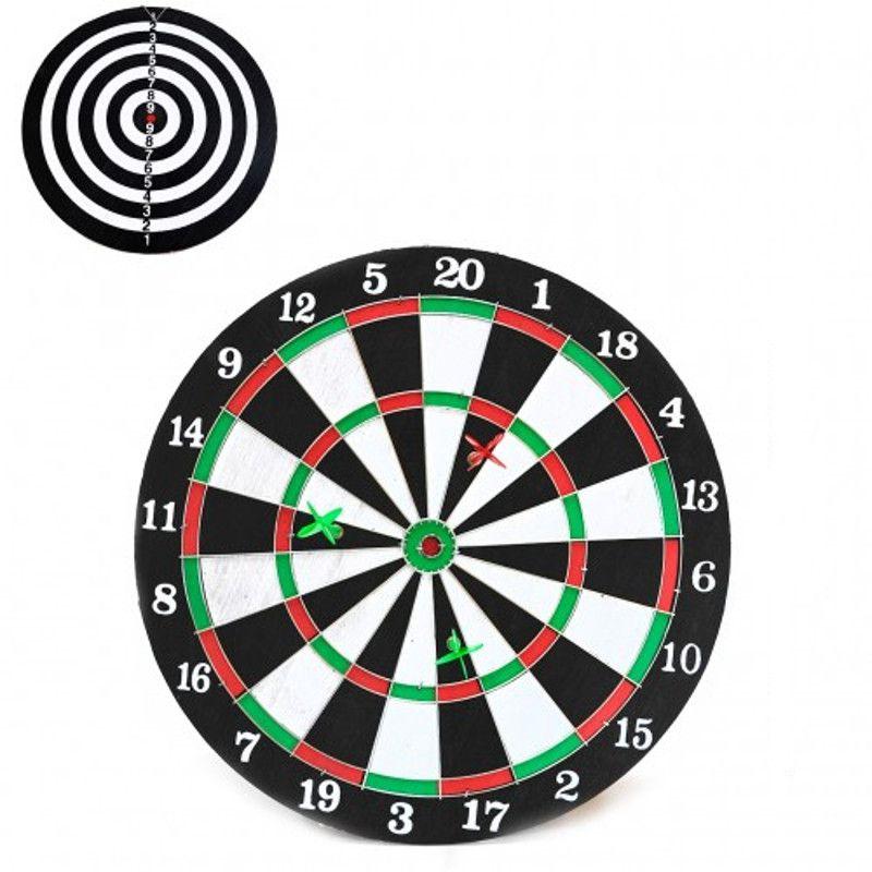 """Jogo de Dardos Tabuleiro 36cm 14"""" Duplo com Alvo 813951"""