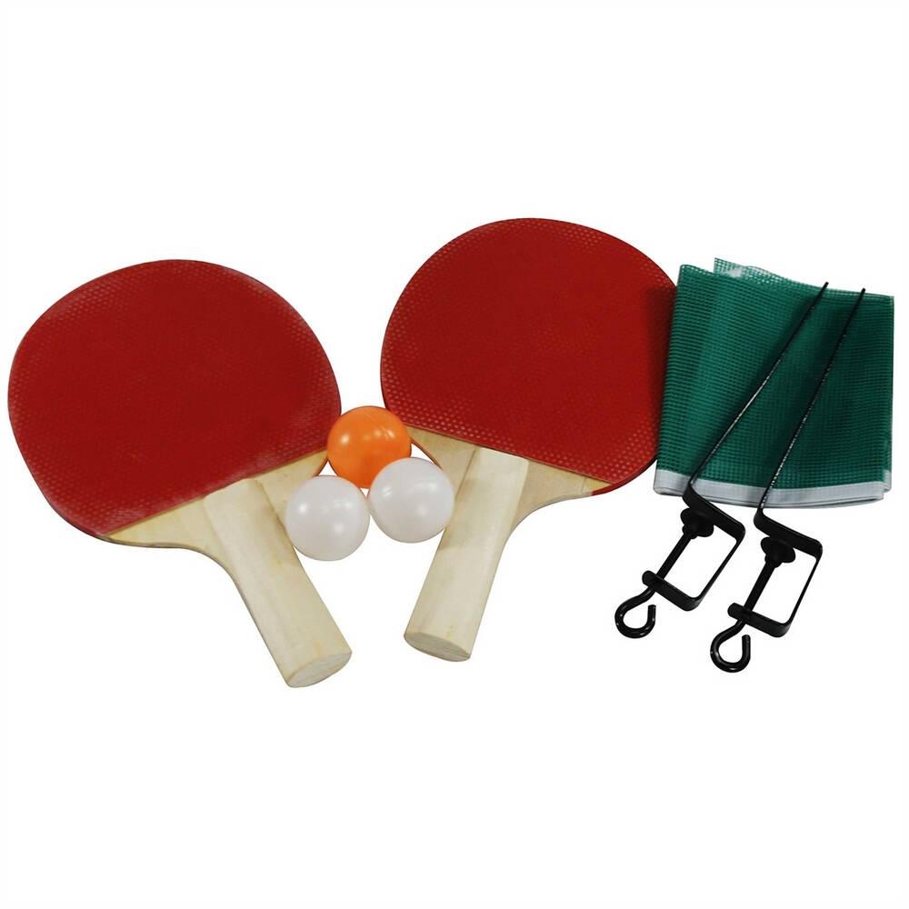 Jogo de Ping Pong com 2 Raquetes Bolinhas e Rede Tênis de Mesa NS-0103