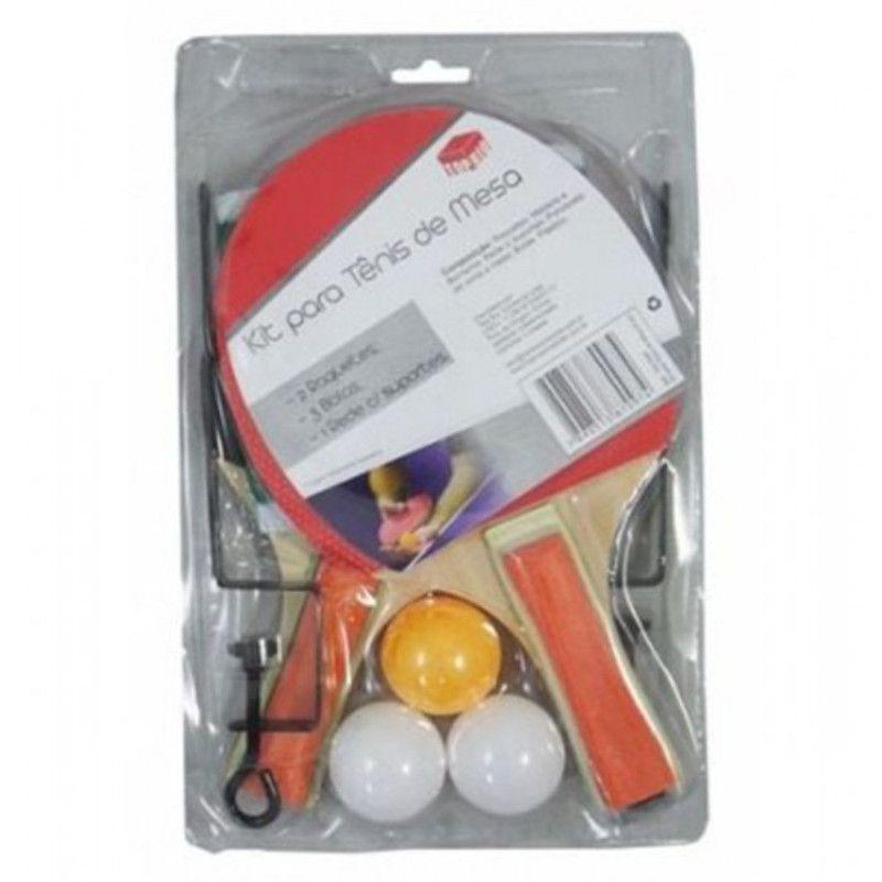 Jogo de Ping Pong com 2 Raquetes Bolinhas e Rede Top Rio TRC7097