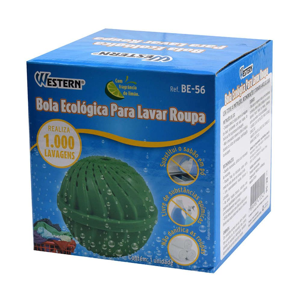 Kit 12 Bolas para Lavar Roupas Ecológica Dura até 1000 Lavagens Western BE-56