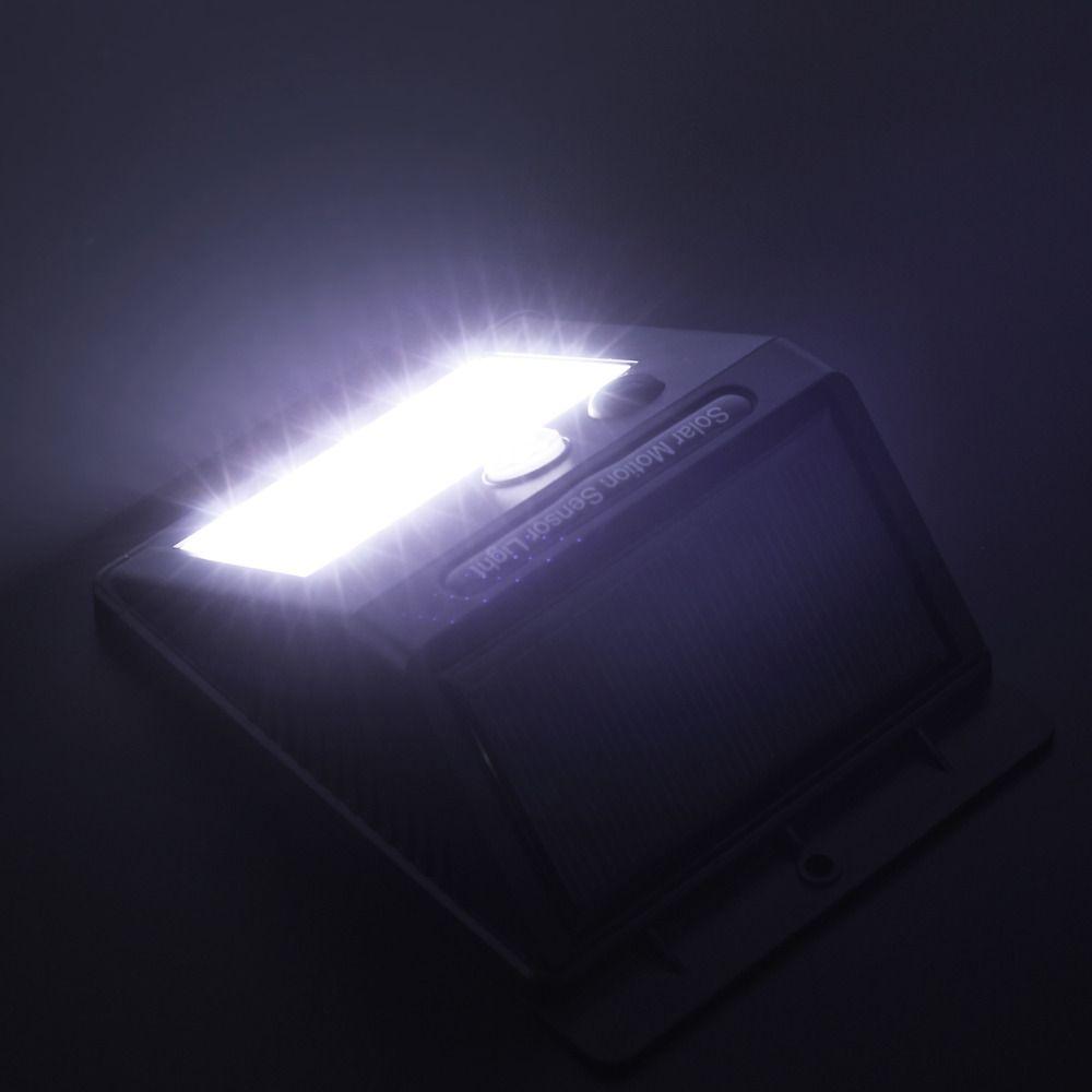Kit 4 Luminária Led Recarregável Solar 20 Leds de Parede com Sensor De Presença