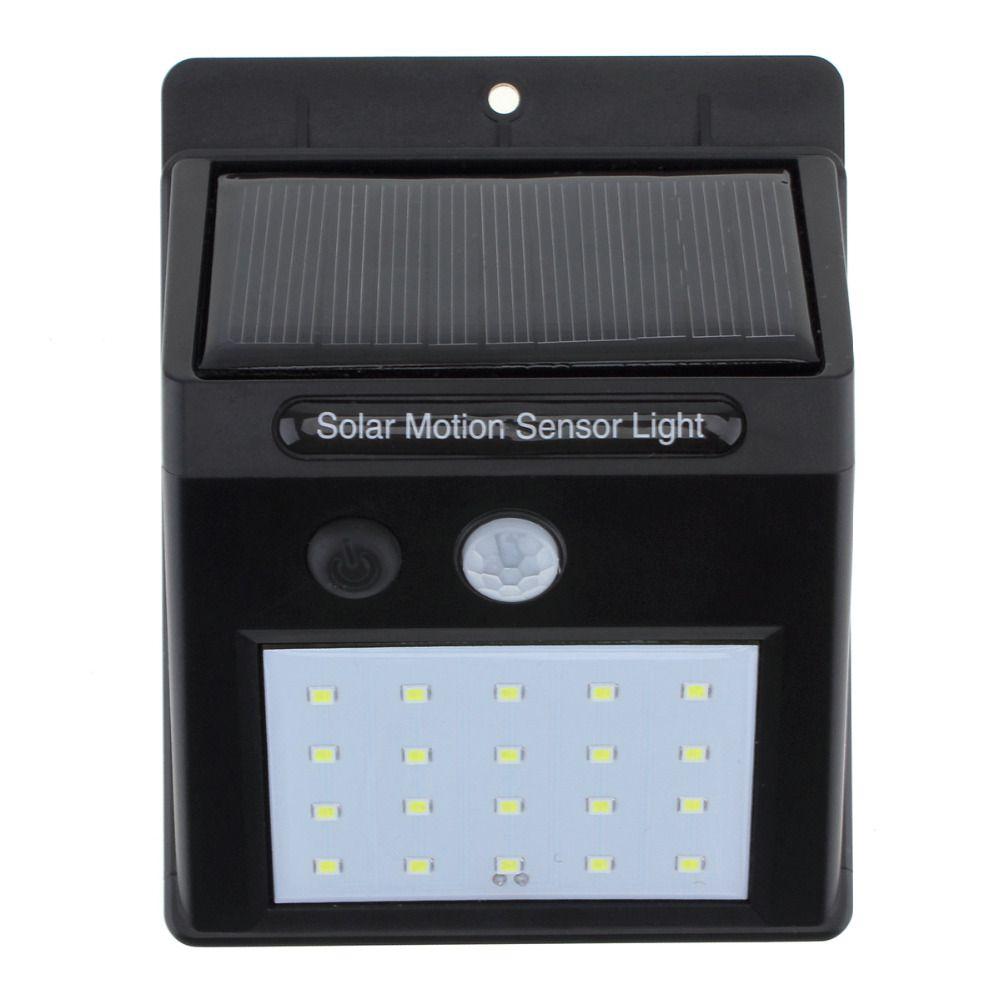 Kit 4 Luminária Led Recarregável Solar 30 Leds de Parede com Sensor De Presença
