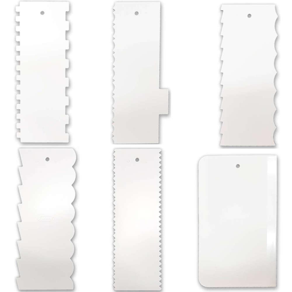 Kit 6 Espátulas de Confeiteiro Decorativa para Confeitar Bolo Injetemp
