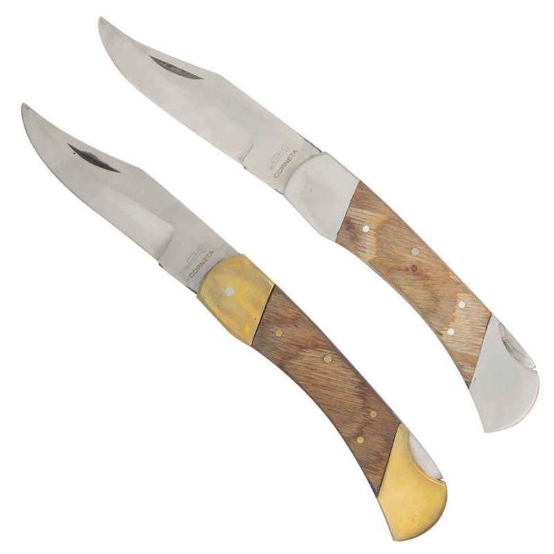 Kit Canivete Esporte Latão e Inox Corneta 200
