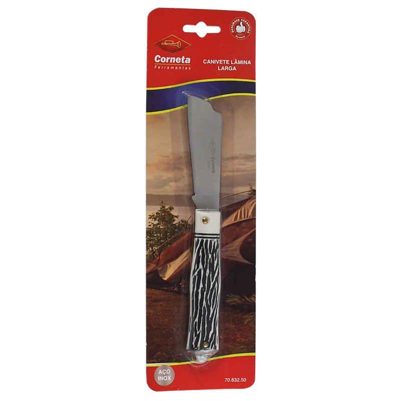 Kit Canivete Lâmina Larga e Estreita Pica Fumo Corneta 632