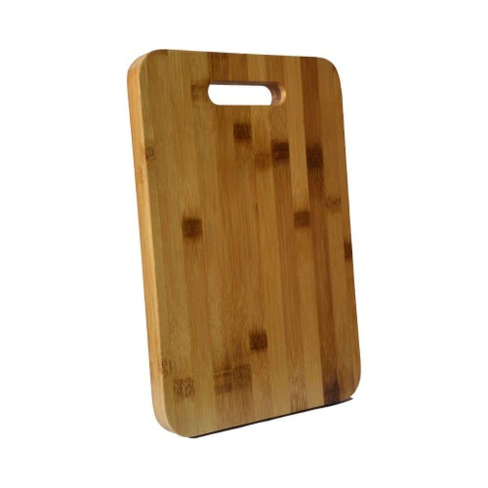 Kit Churrasco Faca Chaira 8 Corneta + Tábua de Corte de Bambu 34x24cm