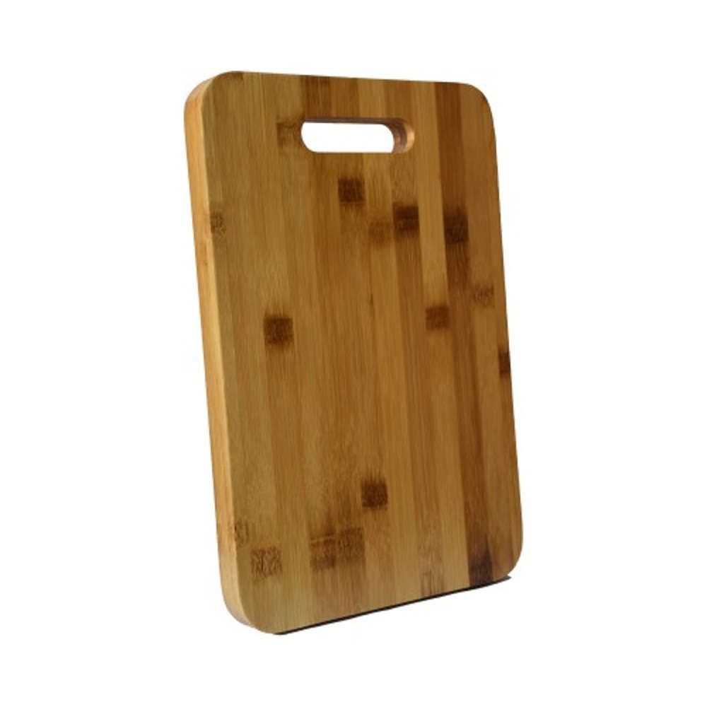 Kit Churrasco Faca Chaira 8 Corneta + Tábua de Corte de Bambu 36x26cm