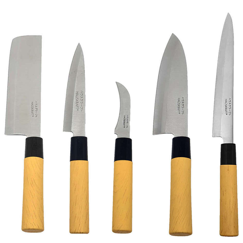 Kit Faca Sushi Sashimi Tipo Japonesa Santoku Peixe Legumes e Cozinha KITHAUFACJAP002