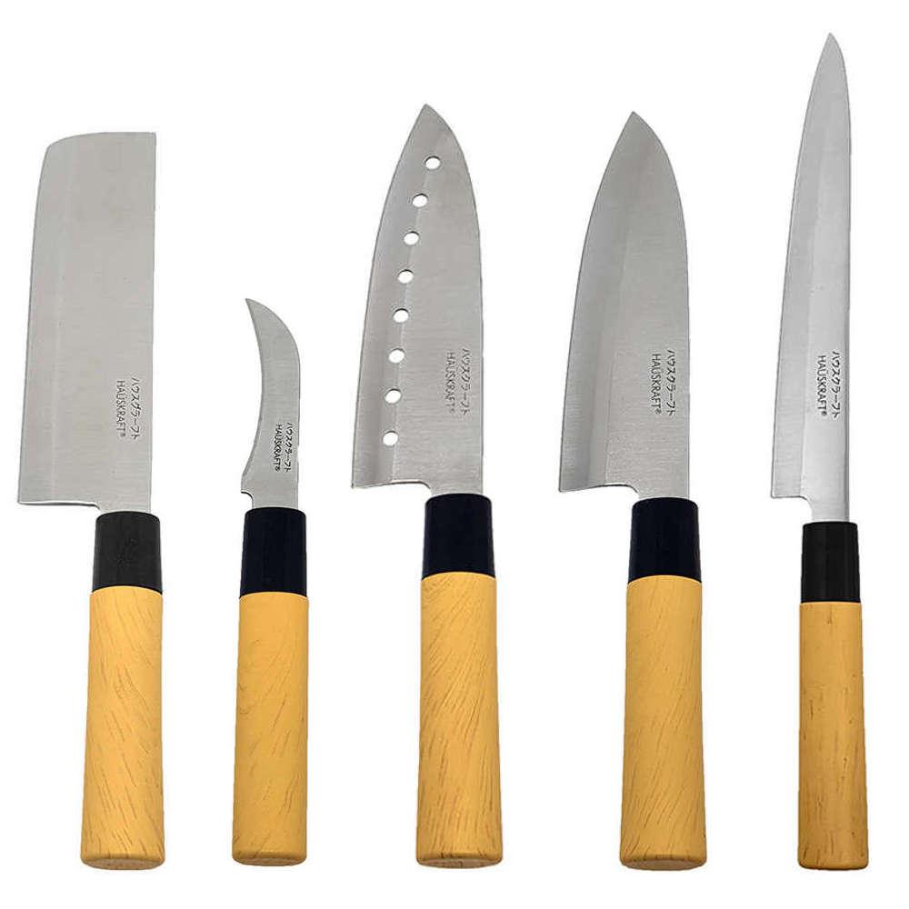 Kit Faca Sushi Sashimi Tipo Japonesa Santoku Peixe Legumes e Cozinha KITHAUFACJAP005