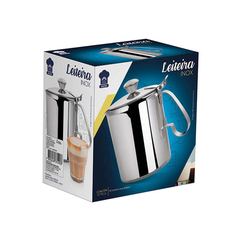 Leiteira Inox 600ml Art House ZF2454