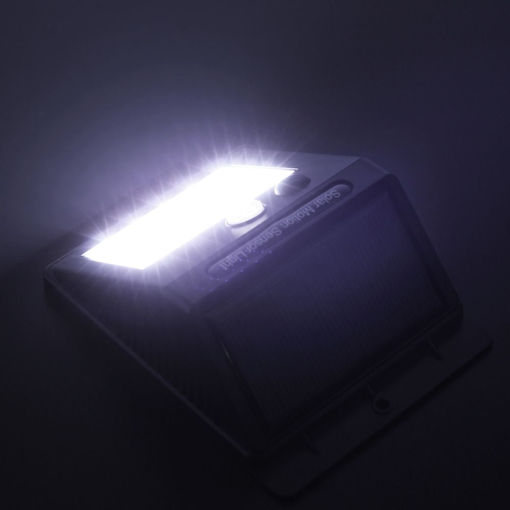 Luminária Led Recarregável Solar 20 Leds de Parede com Sensor De Presença