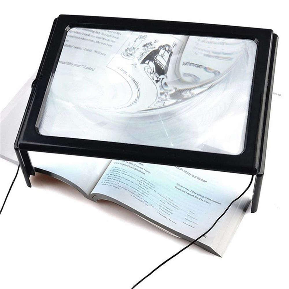Lupa de Mesa para Leitura com Luz Aumento 2.5x 6 Leds TH-275205C