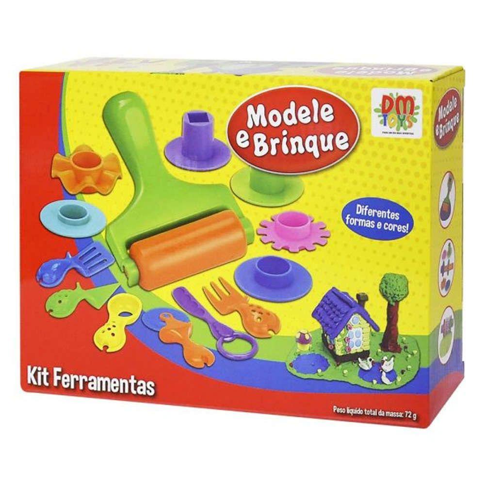 Massinha de Modelar Ferramentas Moldes DM Toys DMT4729