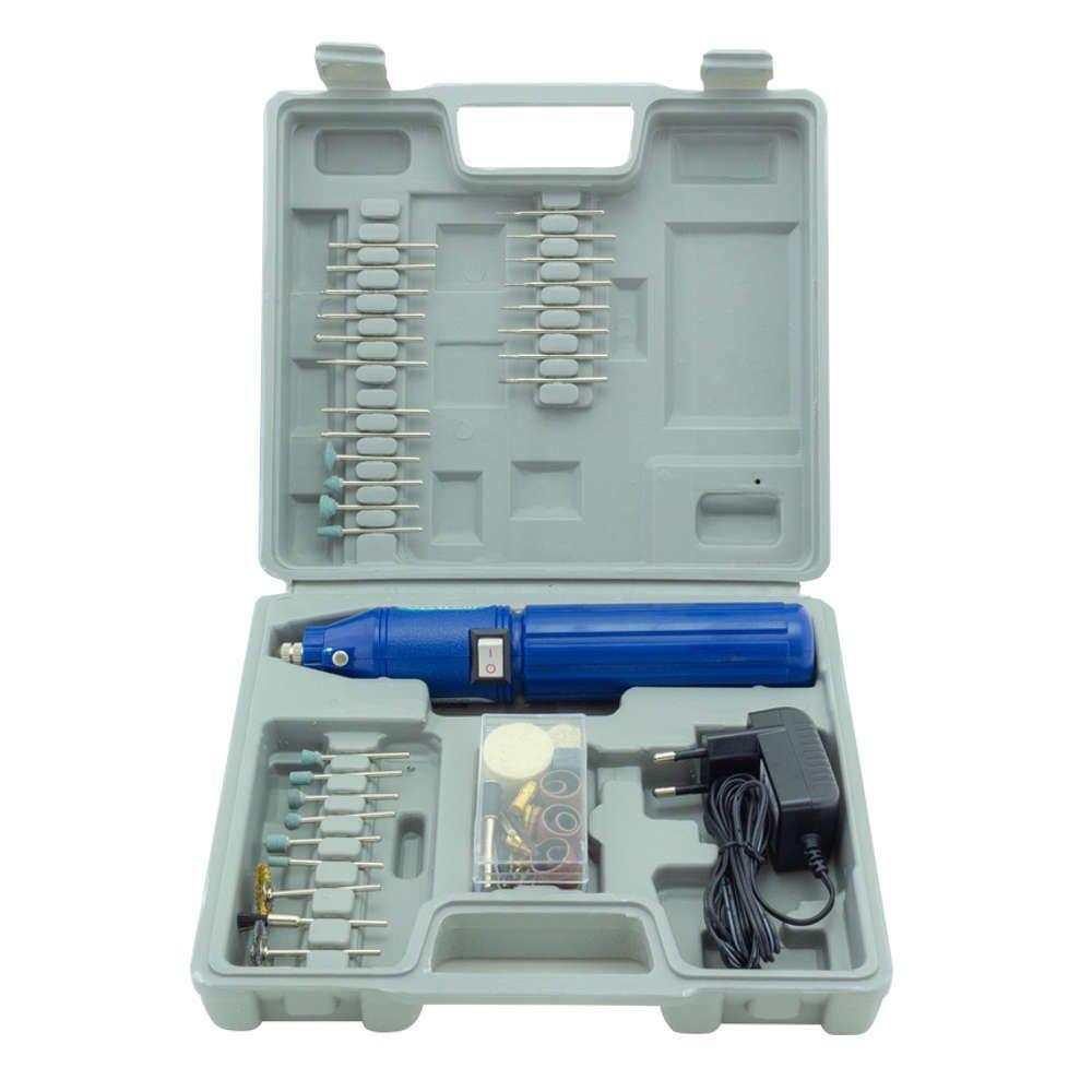 Micro Retífica Recarregável Bivolt (110V/220V) 60 peças R-60 Western