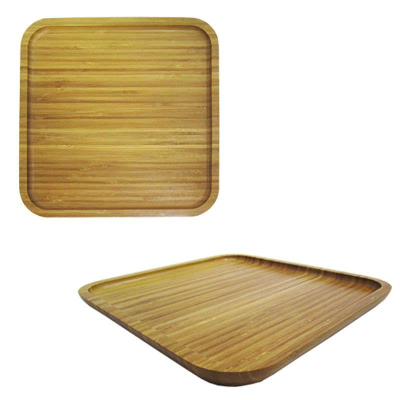 Petisqueira Bandeja de Bambu Quadrada 25cm Top Rio TRC8074