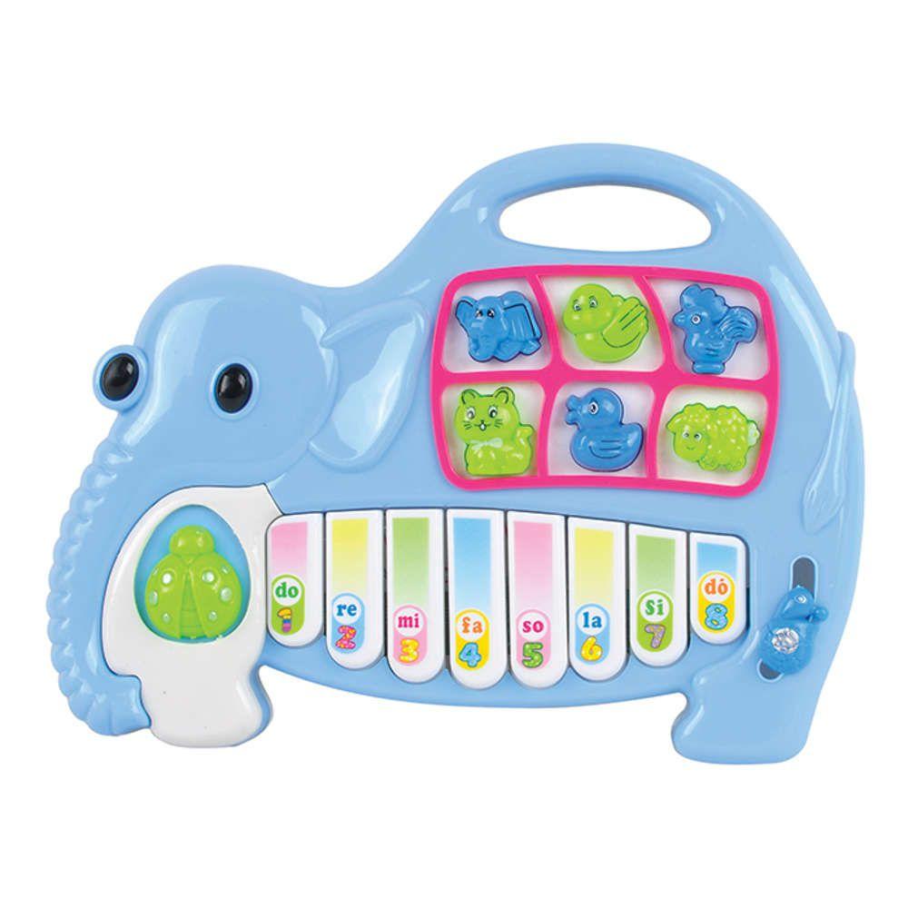 Piano Musical Infantil Animais Elefante Art Brink ZFT055