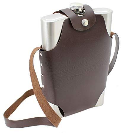 Porta Whisky Inox Grande 18Oz 500ml com Bolsa 43161