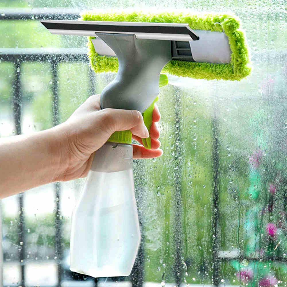 Rodo com Spray Limpa e Seca para Janelas e Vidros HM9730